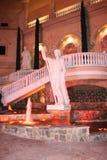 Fontana della città alla sera Fotografia Stock