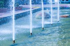 Fontana della città di struttura, intere di Dita Immagini Stock