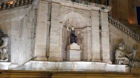 Fontana della Dea罗马 晚上 国会山庄 罗马 影视素材