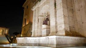 Fontana della Dea罗马 晚上 意大利罗马 股票视频