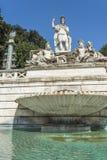 Fontana della Dea di Roma, Piazza del Popolo, Rome, Italien Arkivfoton
