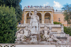 Fontana della Dea di Roma in  Piazza del Popolo Royalty Free Stock Photo