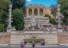 Fontana della Dea di Roma in  Piazza del Popolo Royalty Free Stock Image