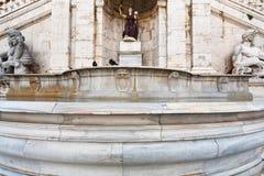 Fontana della Dea Roma on Capitoline Hill, Rome Stock Image