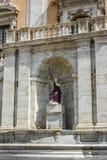 Fontana della Dea Roma in the Piazza del Campidoglio on top of the Capitoline Hill in Rome, Italy Stock Images