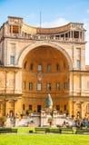 The Fontana della Pigna (The Pine cone fountain Stock Photo