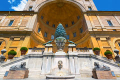 The Fontana della Pigna in Vatican, Rome Stock Photos