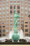 Fontana della plaza commemorativa Cleveland Ohio dei veterani di vita eterna Immagini Stock Libere da Diritti