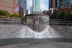 Fontana della plaza di Cityfront Fotografia Stock