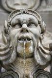 Fontana della statua a Roma, Italia. Fotografia Stock Libera da Diritti