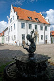 Fontana della Svezia Kalmar Fotografia Stock Libera da Diritti