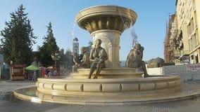 Fontana delle madri a Skopje archivi video