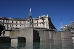 Fontana delle Naiadi στην πλατεία της Δημοκρατίας Ιταλία Ρώμη Στοκ Φωτογραφία