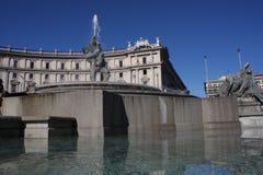 Fontana delle Naiadi στην πλατεία της Δημοκρατίας Ιταλία Ρώμη Στοκ φωτογραφία με δικαίωμα ελεύθερης χρήσης