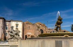 Fontana delle Naiadi n Rome, Italy Stock Photography