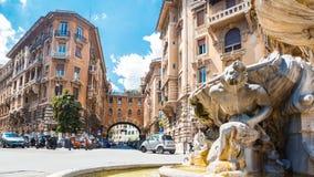 Fontana-delle Rane (Brunnen der Frösche) stockbild