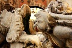Fontana delle Rane - piazza Mincio Arkivbilder