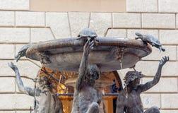 Fontana delle Tartarughe żółw fontanna w Rzym Fotografia Stock