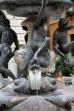 Fontana-delle Tartarughe, der Schildkröten-Brunnen im Marktplatz Mattei Rom, Stockfotografie