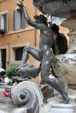 Fontana-delle Tartarughe, der Schildkröten-Brunnen im Marktplatz Mattei Rom, Lizenzfreie Stockfotografie