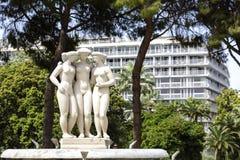 Fontana delle tre tolleranze in Nizza Fotografia Stock