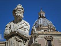 Fontana delle Vergogne στην πλατεία Πρετόρια στο Παλέρμο της Σικελίας, Ιταλία Στοκ Φωτογραφία