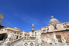 Fontana delle Vergogne in Palermo, Sicily Royalty Free Stock Images