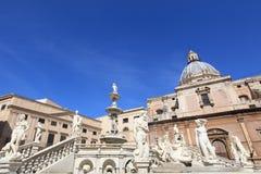 Fontana delle Vergogne in Sicily Stock Photo