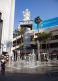 Fontana di acqua di Dancing fotografia stock libera da diritti