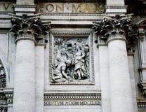 Fontana di bassorilievo di Trevi Immagini Stock Libere da Diritti