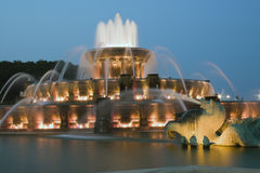 Fontana di Buckingham in Chicago Immagini Stock Libere da Diritti