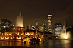 Fontana di Buckinham in Chicago Fotografia Stock