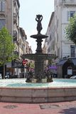 Fontana di Cannes Immagine Stock