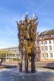 Fontana di carnevale a Mainz fotografia stock libera da diritti