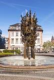 Fontana di carnevale a Mainz immagine stock libera da diritti