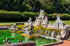 Fontana di Cerere at the Royal Palace of Caserta Stock Images