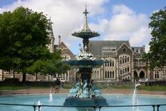 Fontana di Christchurch nella sosta di Hagley Fotografie Stock Libere da Diritti