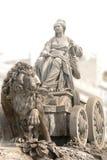 Fontana di Cibeles a Madrid Fotografia Stock Libera da Diritti