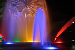 Fontana di colore Fotografie Stock