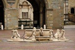 Fontana di Contarini, Bergamo Immagini Stock