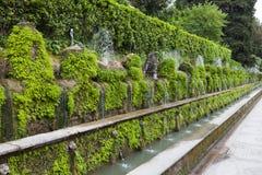 """Fontana di Este16th-century della villa d """"e giardino, Tivoli, Italia Luogo del patrimonio mondiale dell'Unesco fotografie stock"""