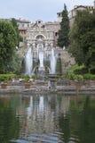 """Fontana di Este16th-century della villa d """"e giardino, Tivoli, Italia Luogo del patrimonio mondiale dell'Unesco fotografia stock libera da diritti"""