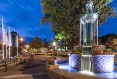 Fontana di Frankenmuth Immagine Stock