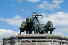 Fontana di Gefion fotografie stock