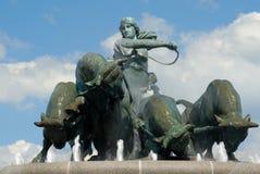 Fontana di Gefion fotografia stock libera da diritti