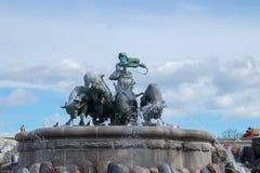 Fontana di Gefion Fotografia Stock