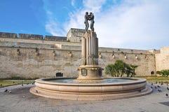 Fontana di Hrmony. Lecce. La Puglia. L'Italia. Immagine Stock