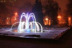 Fontana di inverno Immagine Stock
