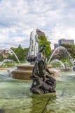 Fontana di JC Nichols, Kansas City Missouri, acqua, Fotografie Stock Libere da Diritti