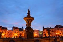 Fontana di kasna di Samsonova in Ceske Budejovice, 2011 Fotografie Stock